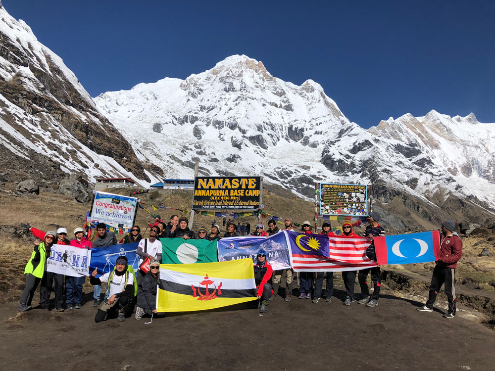 Treeking Picture At Annapurna Base Camp