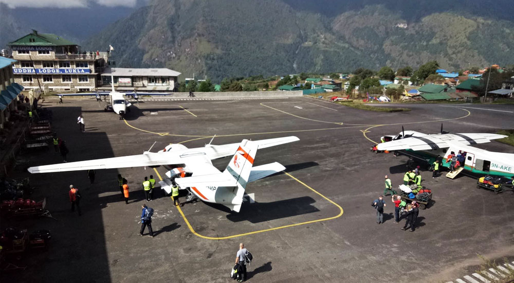 Lukla Airport in Everest region